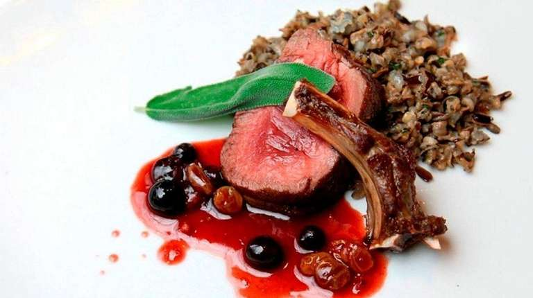 Rack of venison in a Sangiovese reduction with