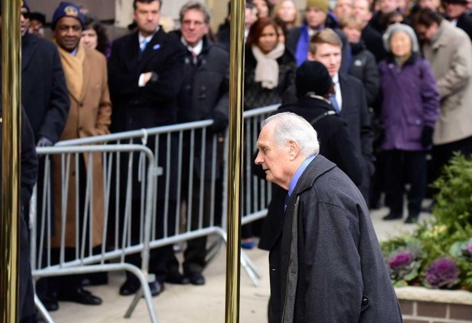 Alan Alda arrives at Frank E. Campbell Funeral