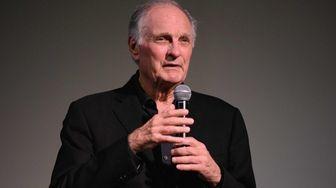 Actor Alan Alda speaks during