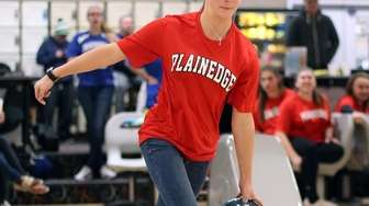 Plainedge's Cailin Cleary during the Nassau girls bowling