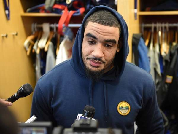 New York Giants defensive end Olivier Vernon answers