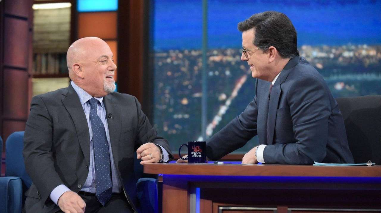 Billy Joel and Stephen Colbert joked about the