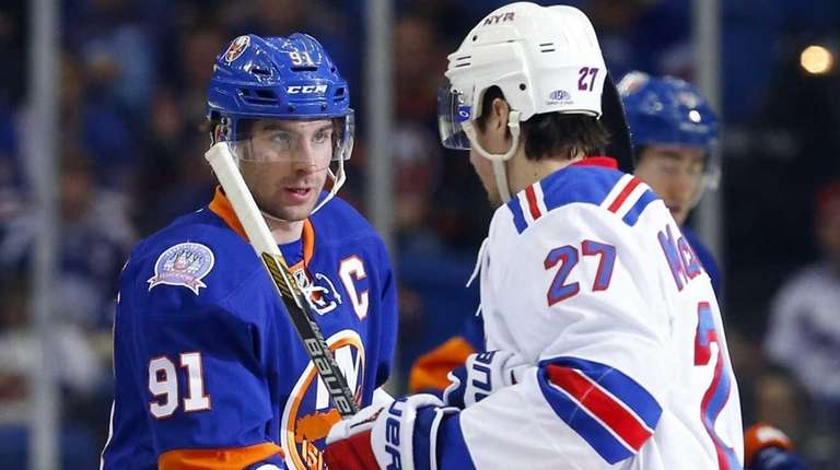 Captains John Tavares of the New York Islanders and