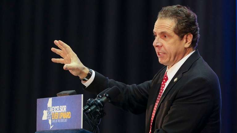 Gov. Andrew M. Cuomo delivers his Long Island
