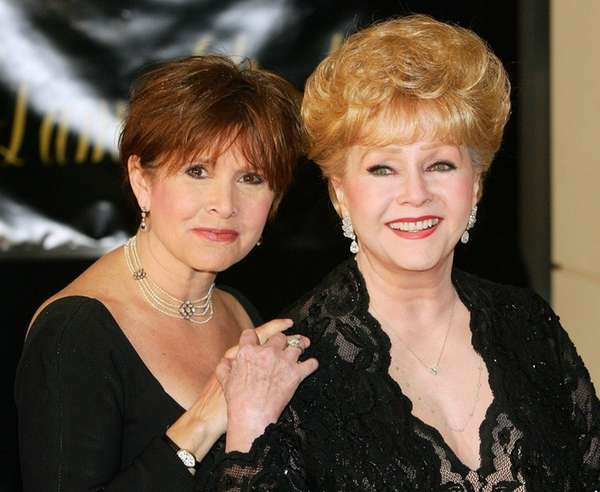 Carrie Fisher and her mother, actress Debbie Reynolds,