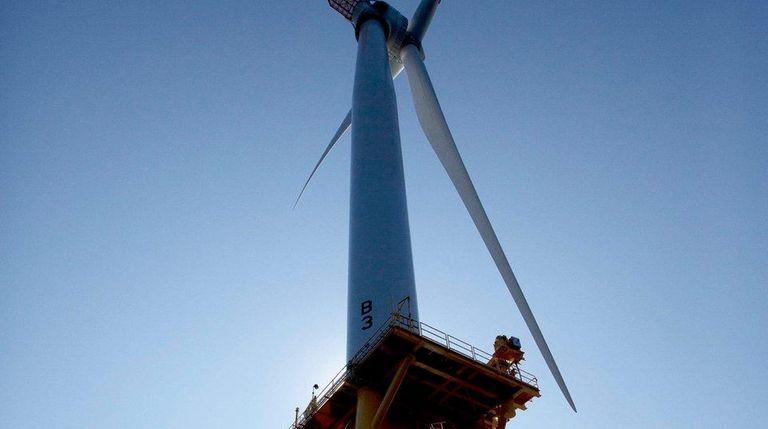 Deepwater Wind's turbines off Block Island, R.I., on