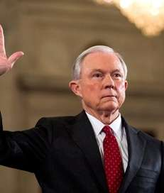 Donald Trump's choice for attorney general, Jeff Sessions,