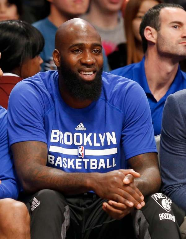 Quincy Acy #13 of the Brooklyn Nets looks