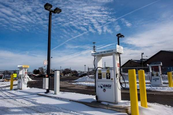 The natural gas fueling station for the Town