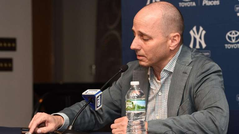 New York Yankees general manager Brian Cashman points