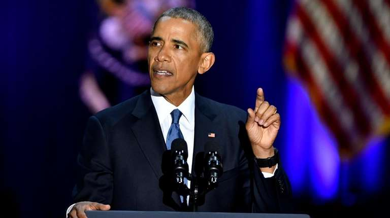 Obama gave his farewell address in Chicago on