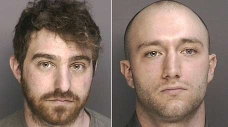Ethan Solomkin, 25, left, of Great Neck, and