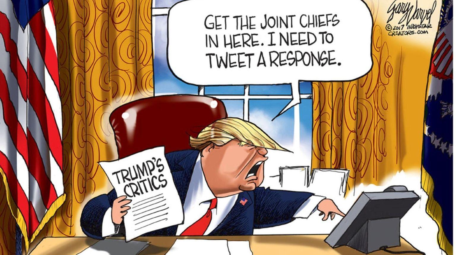 Cartoonists size up Trump