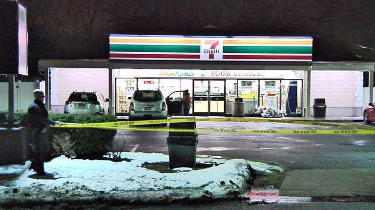 Suffolk County police are investigating an armed robbery