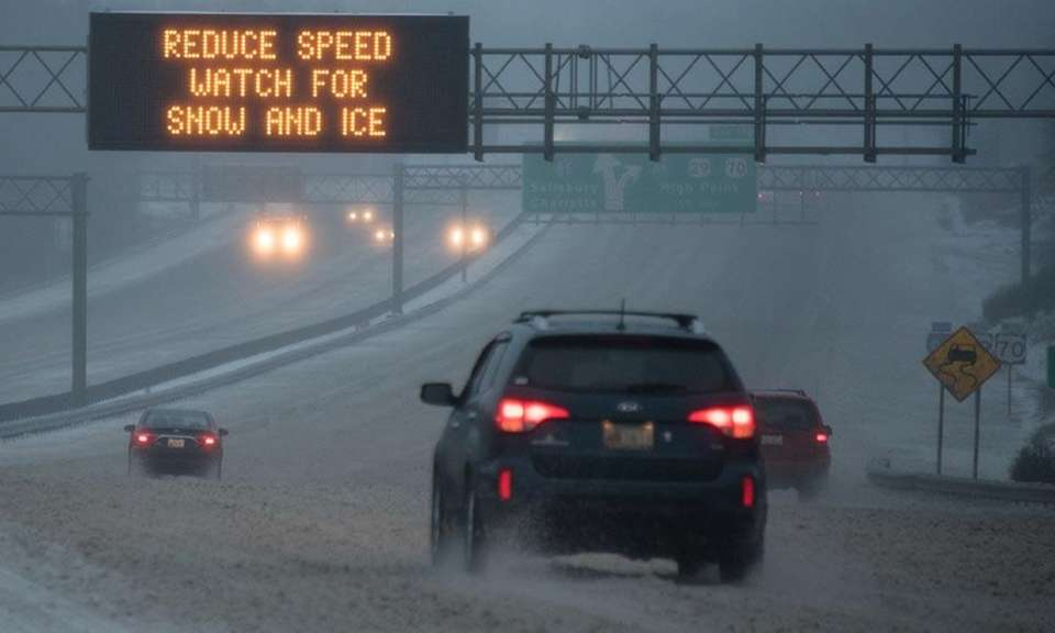 In snowy or icy weather, when your tires