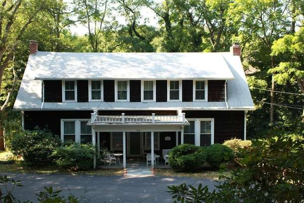Historic remnants of Port Jefferson's first hospital are