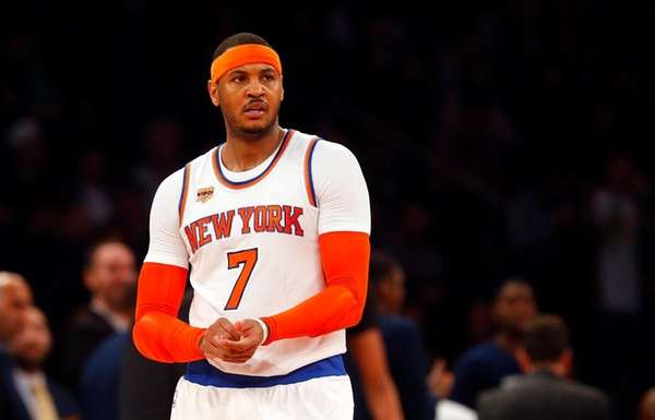 Carmelo Anthonyof the New York Knicks after he