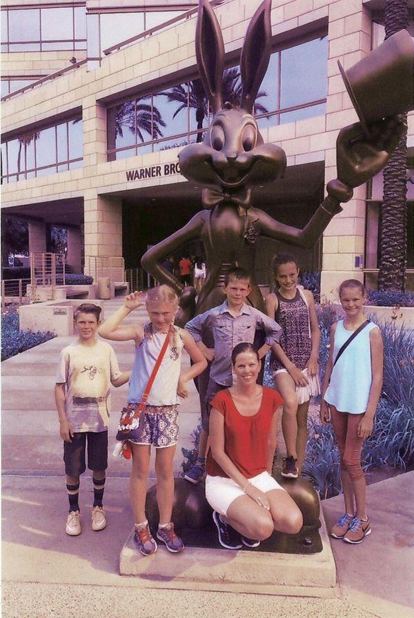 Adriana Kielbiowski with family and friends at Warner