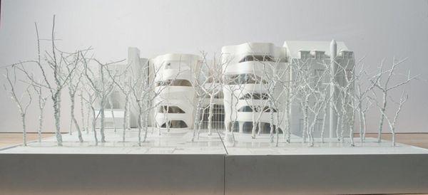 A model of the Richard Gilder Center for