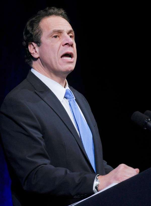 Gov. Andrew M. Cuomo delivers one of his