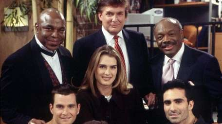 Donald Trump, top center, guest starred on