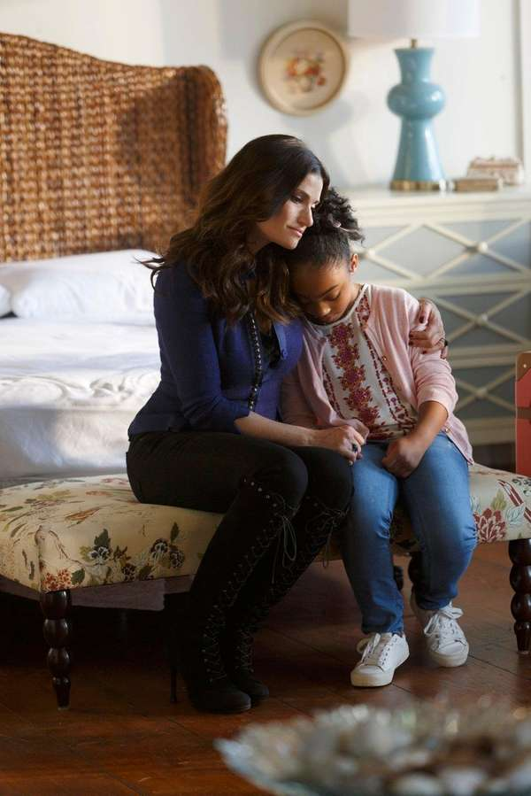 Idina Menzel, left, and Sanai Victoria in Lifetime's