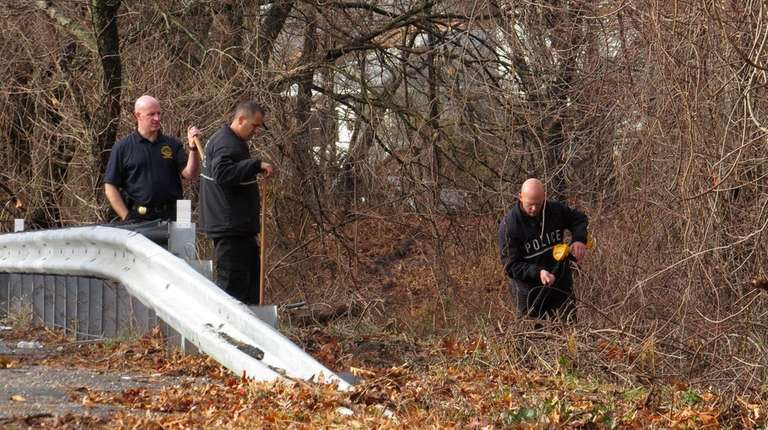 State Police investigate near a ramp to the