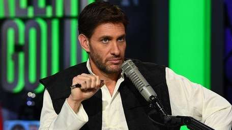 Mike Greenberg on the set of ESPN Radio's