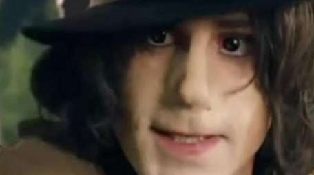 Actor Joseph Fiennes as Michael Jackson in