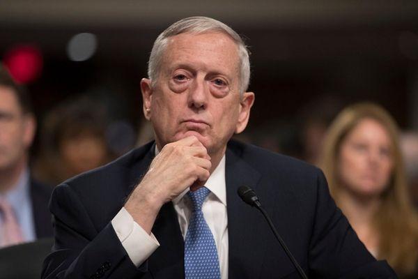 Defense Secretary-designate James Mattis listens to questions from