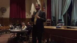 New Hyde Park Mayor Robert Lofaro spoke on