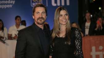 Christian Bale, left, and his wife Sibi Blazic