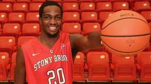 Stony Brook forward Jameel Warney poses for a