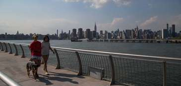 Brooklyn's Greenpoint neighborhood boasts waterfront views of Manhattan,