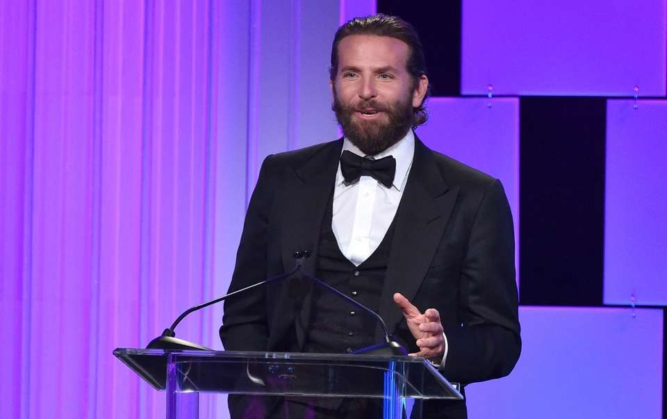 Bradley Cooper presents the Sid Grauman award at