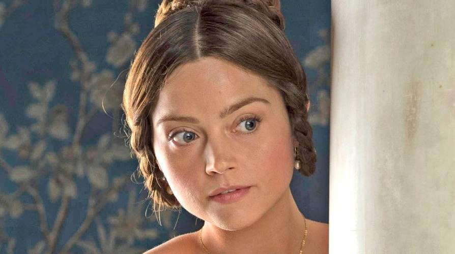 Jenna Coleman as the young queen in