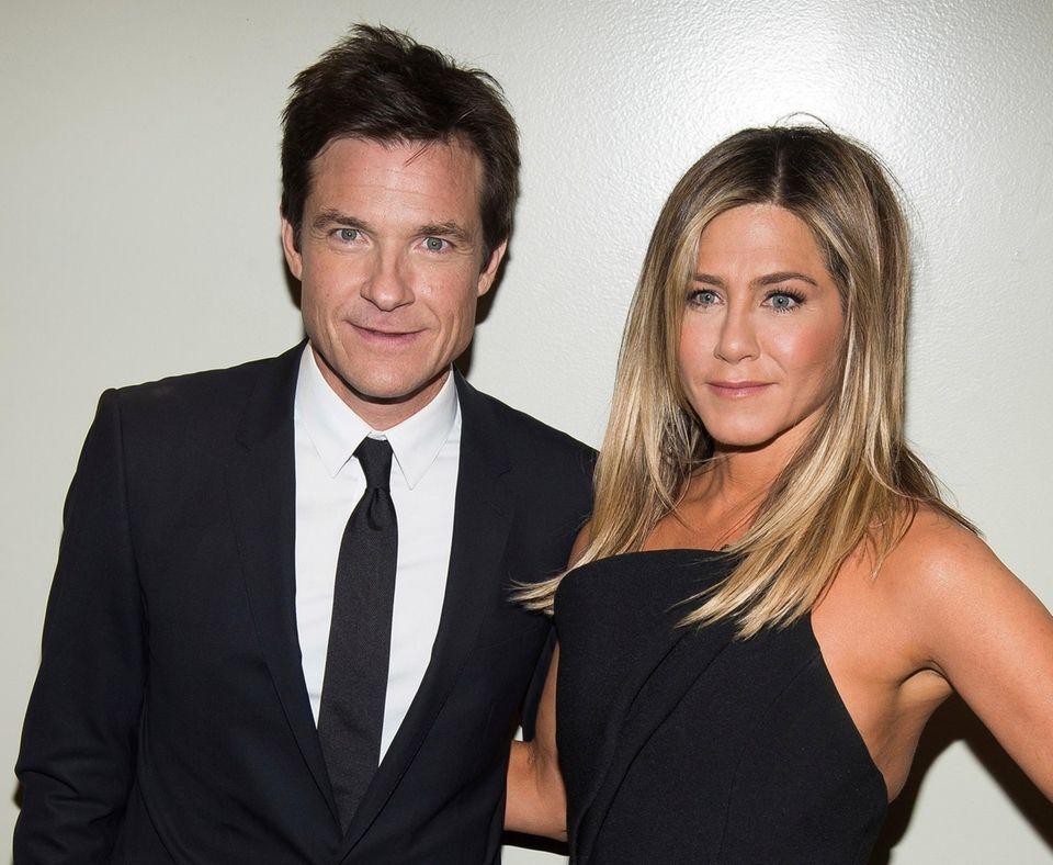 Jason Bateman and Jennifer Aniston attend a screening