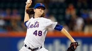 Jacob deGrom, shown here against Miami on Thursday,