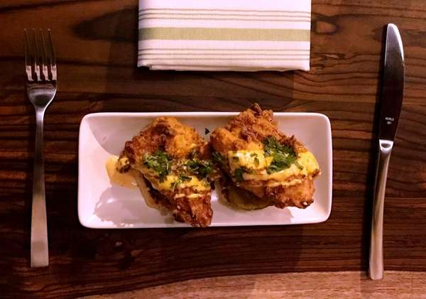 Fried chicken and biscuits is on the menu