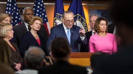 US Senate Minority Leader Chuck Schumer (D-NY) speaks