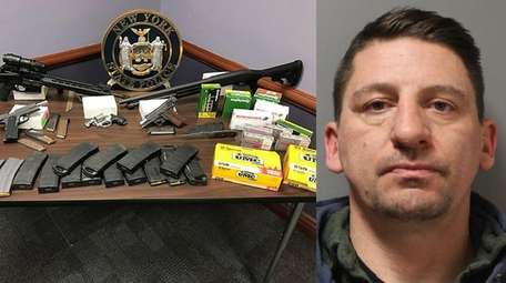 Andrew Kuklis, 41, of Patchogue, faces weapon and