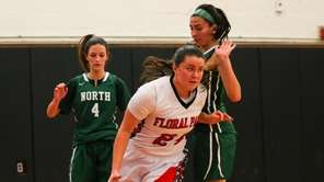 Natalie Hickman of Floral Park High School drives