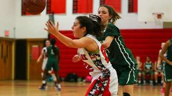 Marykate Guerriero of Floral Park High School plays