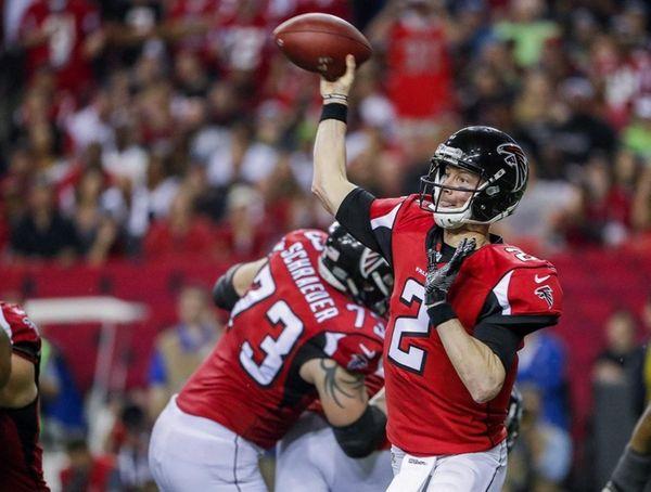 Falcons quarterback Matt Ryan in action during the