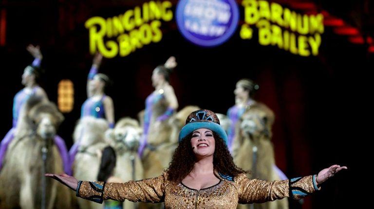 Ringling Bros. and Barnum & Bailey ringmaster Kristen