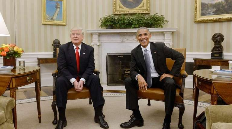 U.S. President Barack Obama meets with President-elect Donald