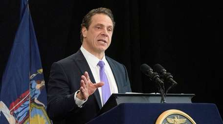 Gov. Andrew M. Cuomo is pictured on Monday,