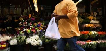 The city's 5-cent plastic bag fee is set