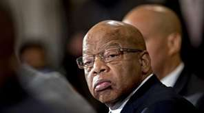 Rep. John Lewis in an interview on