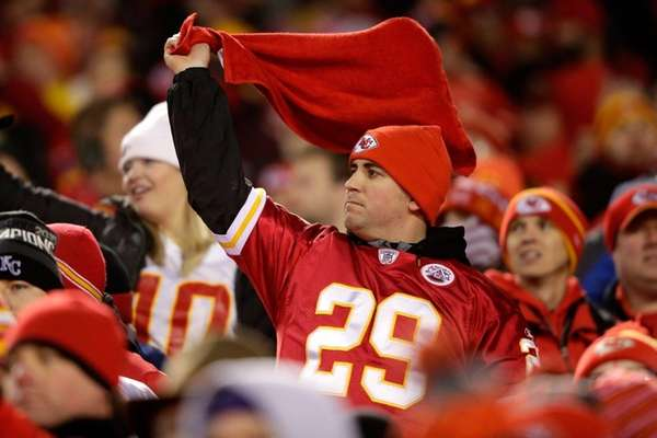 A Kansas City Chiefs fan waves his own